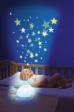 Chicco Buenas Noches Estrellitas - Proyector con efecto de luces y melodías, color azul