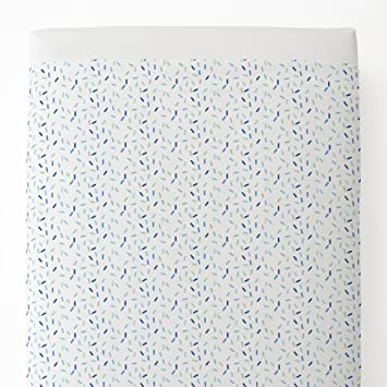 Carousel Designs Blue Sprinkles Toddler Bed Comforter