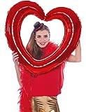 aufblasbarer Bilderrahmen Selfie Rahmen rot Herzform 80x75 cm Hochzeit Deko