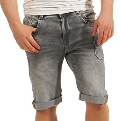 11741a14f89b61 M.O.D Herren Jeans Shorts Norman Bermuda kurze Sommerhose california grey  W32