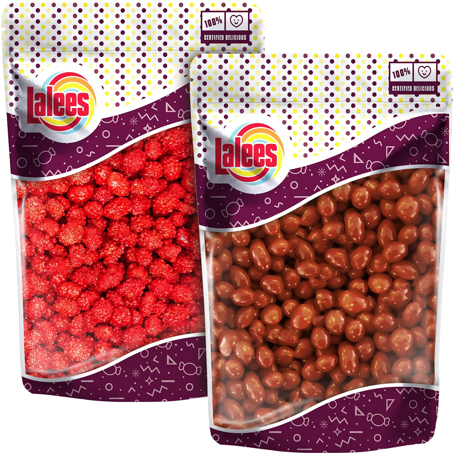 Lalees Boston Baked Beans - French Burnt Peanuts - Candy Coated Peanuts - 2 Pack of 1 Pound Each - Bulk Unwrapped Candy - Old Fashion Candy