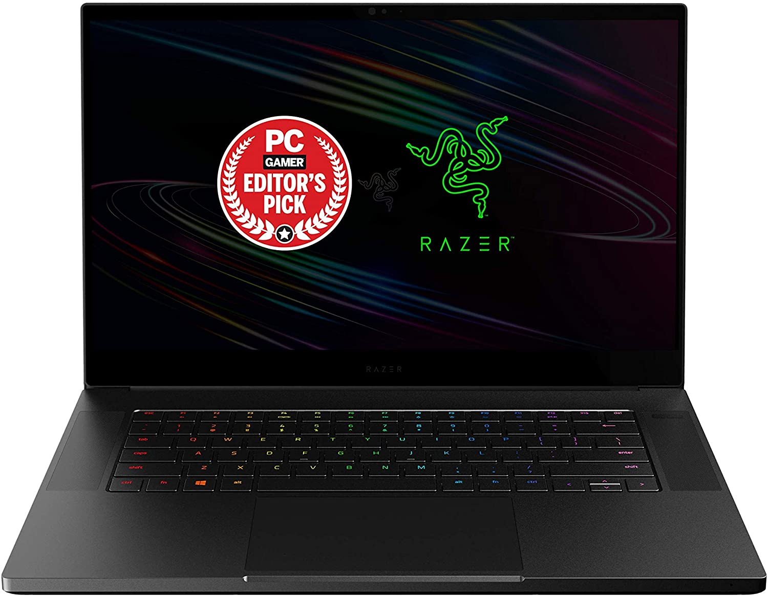 "Razer Blade 15 Advanced Gaming Laptop 2020: Intel Core i7-10875H 8-Core, NVIDIA GeForce RTX 2080 SUPER Max-Q, 15.6"" 4K OLED Touch, 16GB RAM, 1TB SSD, CNC Aluminum, Chroma, Thunderbolt 3, Creator Ready"