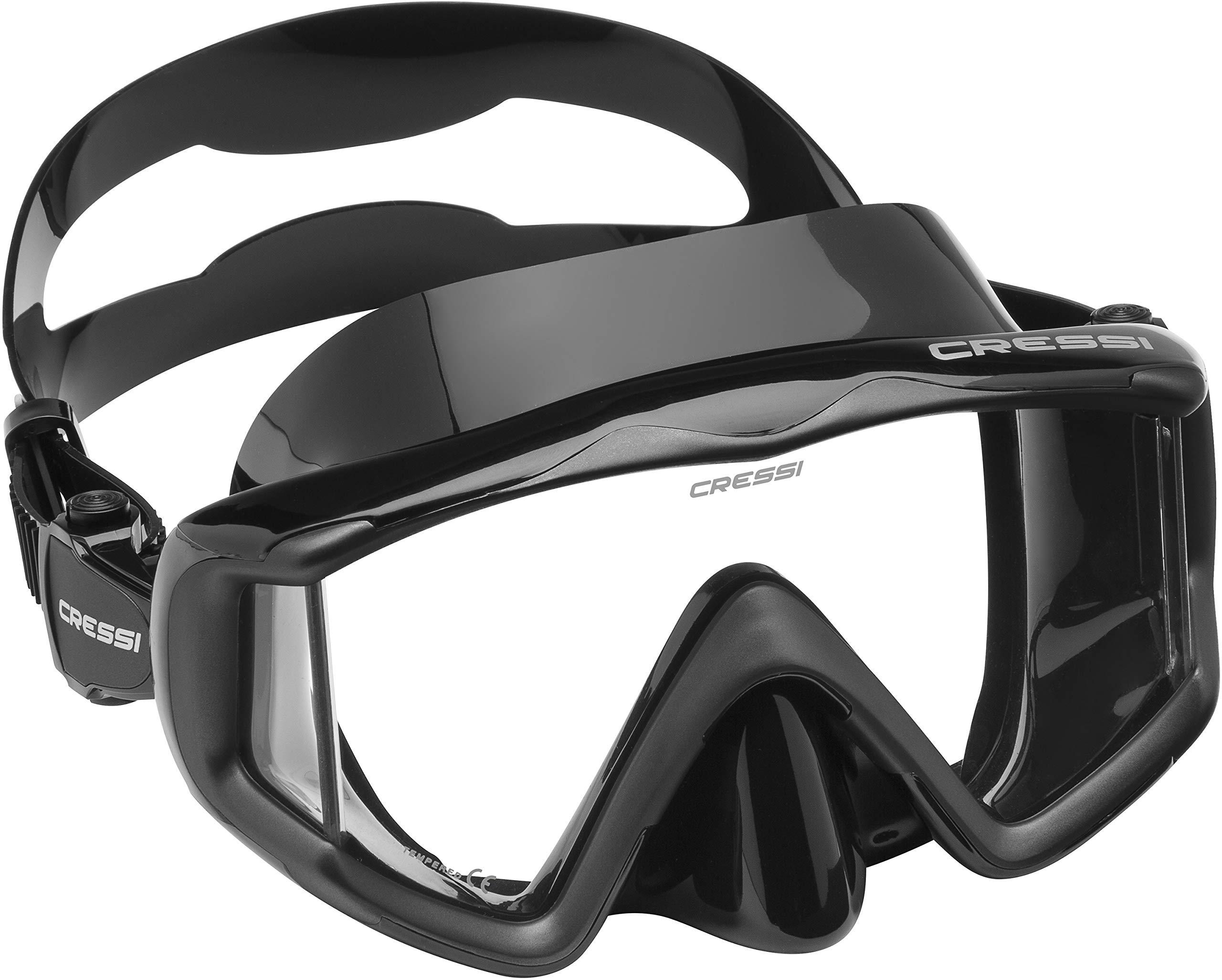 Cressi Liberty Triside Spe Diving Mask, Black/Black/Black