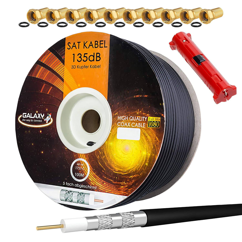 HB-DIGITAL Cable de antena coaxial satelital de cobre puro de ...