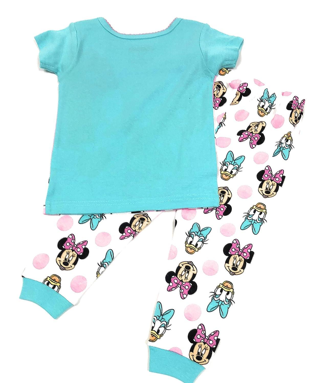 Disney Minnie /& Daisy Little Girls 2 Piece Cotton Pajama Set