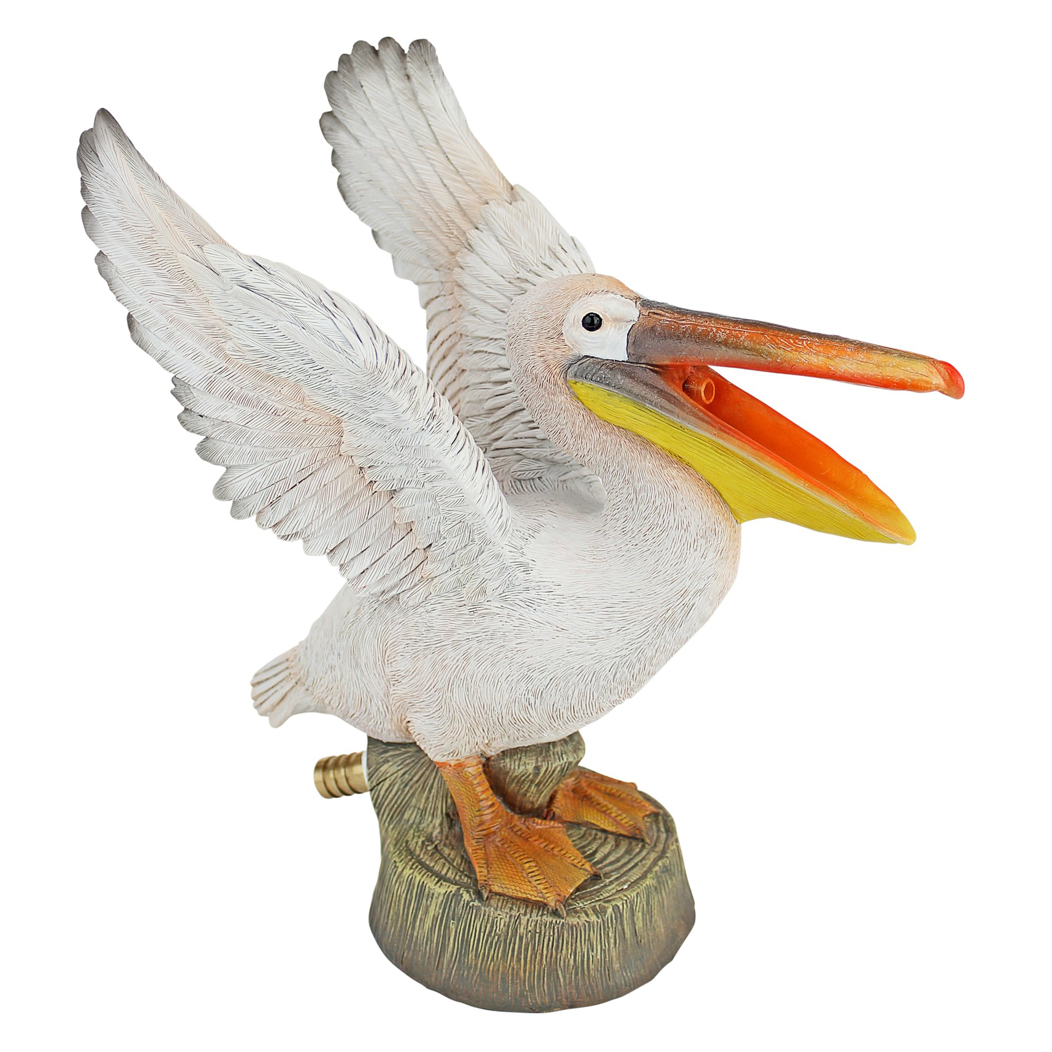 Design Toscano QM2854900 Oceanside Pelican Spitter Piped Statue, Full Color by Design Toscano