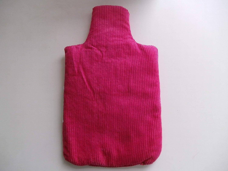 Bolsa de agua caliente con forma de botella de cordón rosa ...