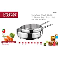Prestige S/Steel Frypan 24cm and 28cm twin pack set, Silver