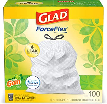 Glad OdorShield 100 Count Drawstring Trash Bags