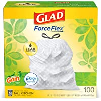 Amazon Price History for:Glad ForceFlex Tall Kitchen Drawstring Trash Bags, 13 Gal, 100 Ct (Package May Vary)