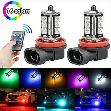 linkstyle 2pcs h8/h11 RGB multicolor cambio de modos de brillo ajuste LED coche conducción