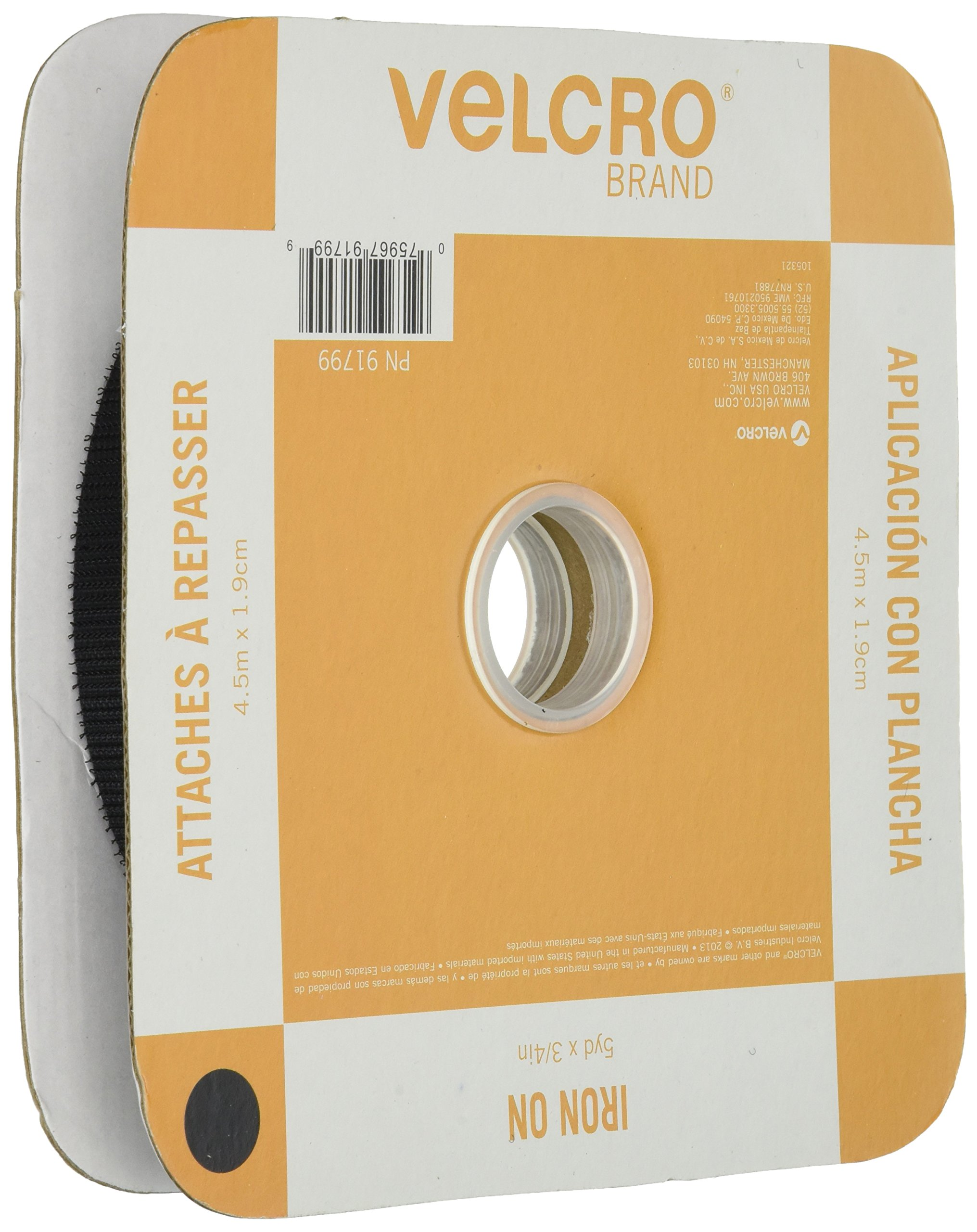 VELCRO(R) BRAND FASTENERS VELCRO(R) Brand Fabric Fusion Tape, 3/4-Inch by 5-Yard, Black by VELCRO Brand