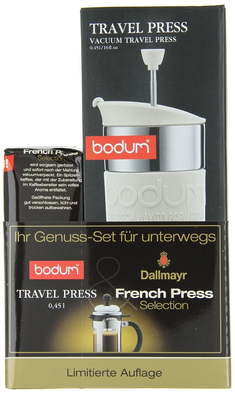 Bodum Travel Press kaffeebereiter (0,45 L) und Dallmayr ...