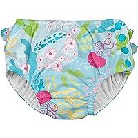 i play - Pañal para nadar, definitivo, con volados y broche, color azul, 18-24 meses