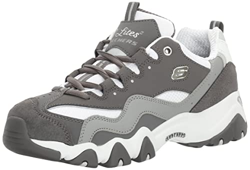 Skechers Sport Women's D'Lites 2.0 Under Control Fashion Sneaker, Gray/White, 8 M US