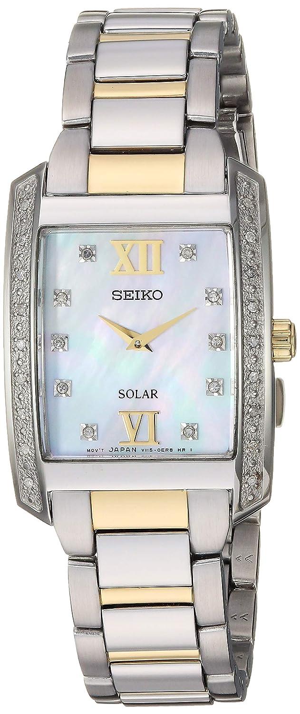 Amazon.com: Seiko - Reloj de cuarzo de acero inoxidable para ...