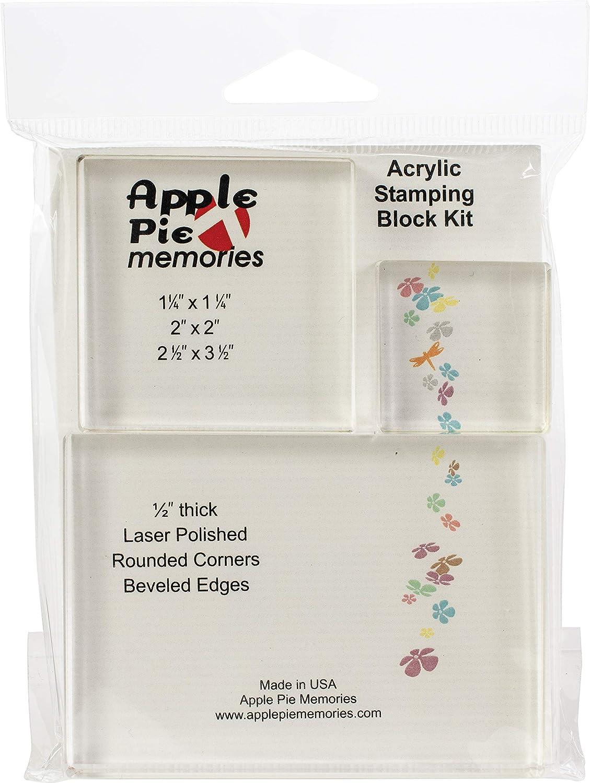 Apple Pie Memories Acrylic Stamp Blocks 12/Pkg.5