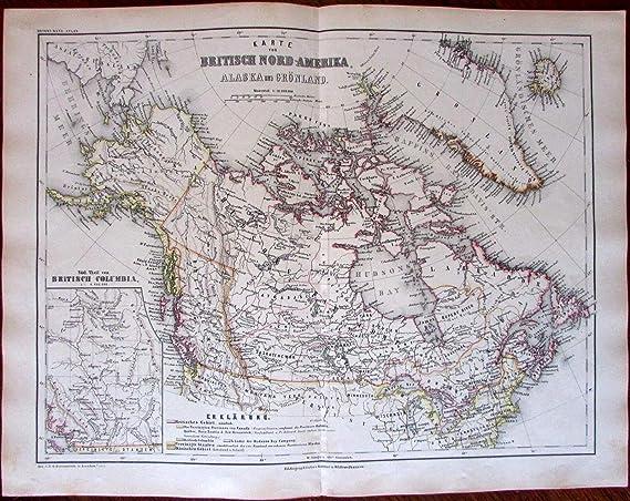 Amazon.com: British Columbia & North America Canada Alaska c ...
