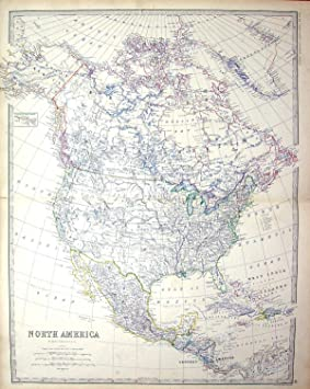 Carte Cuba Amerique.Carte Amerique Du Nord Mexique La Floride Cuba Jamaique Canada D