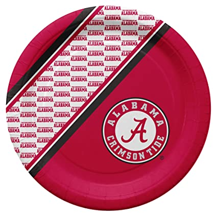 NCAA Alabama Crimson Tide Disposable Paper Plates, Pack of 20