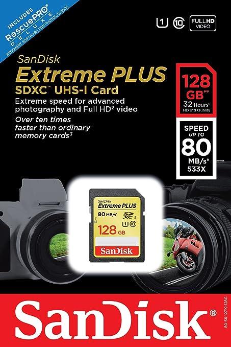 SanDisk Extreme Tarjeta de Memoria SDXC de Clase 10 UHS-1 ...