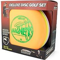 Discraft Deluxe Disc - Juego de palos de golf (4 discos y bolsa) Los modelos y mezclas de plástico pueden variar