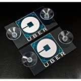 2 UBER REMOVABLE DECAL SIGN PLACARD RIDESHARE (NEW LOGO)