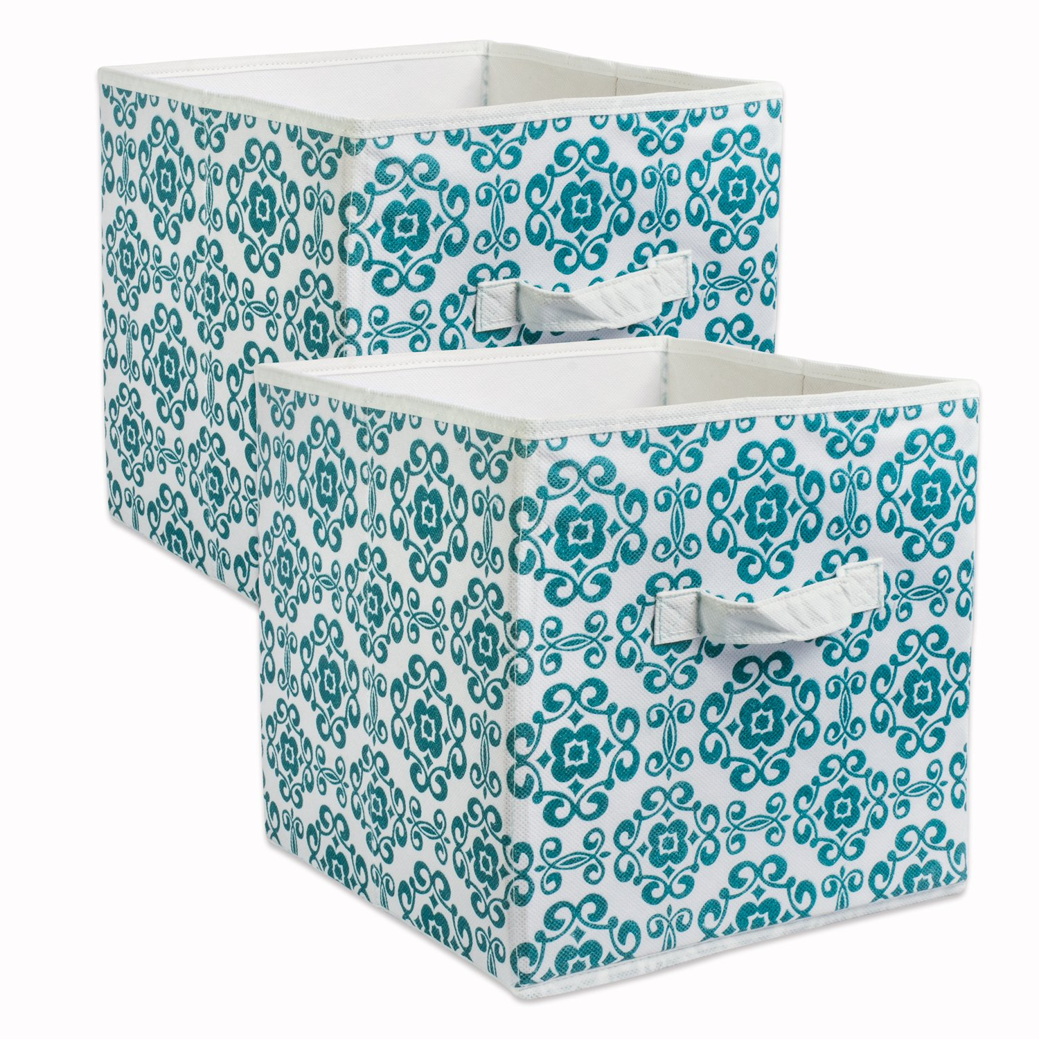 Amazon.com DII Fabric Storage Bins for Nursery Offices Home Organization Containers Are Made To Fit Standard Cube Organizers (11x11x11) Scroll Teal ...  sc 1 st  Amazon.com & Amazon.com: DII Fabric Storage Bins for Nursery Offices Home ...