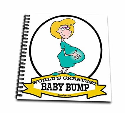 3drose Db 102945 2 Funny Worlds Greatest Baby Bump Women Pregnancy Humor Cartoon Memory Book 12 By 12 Inch Amazon In Office Products