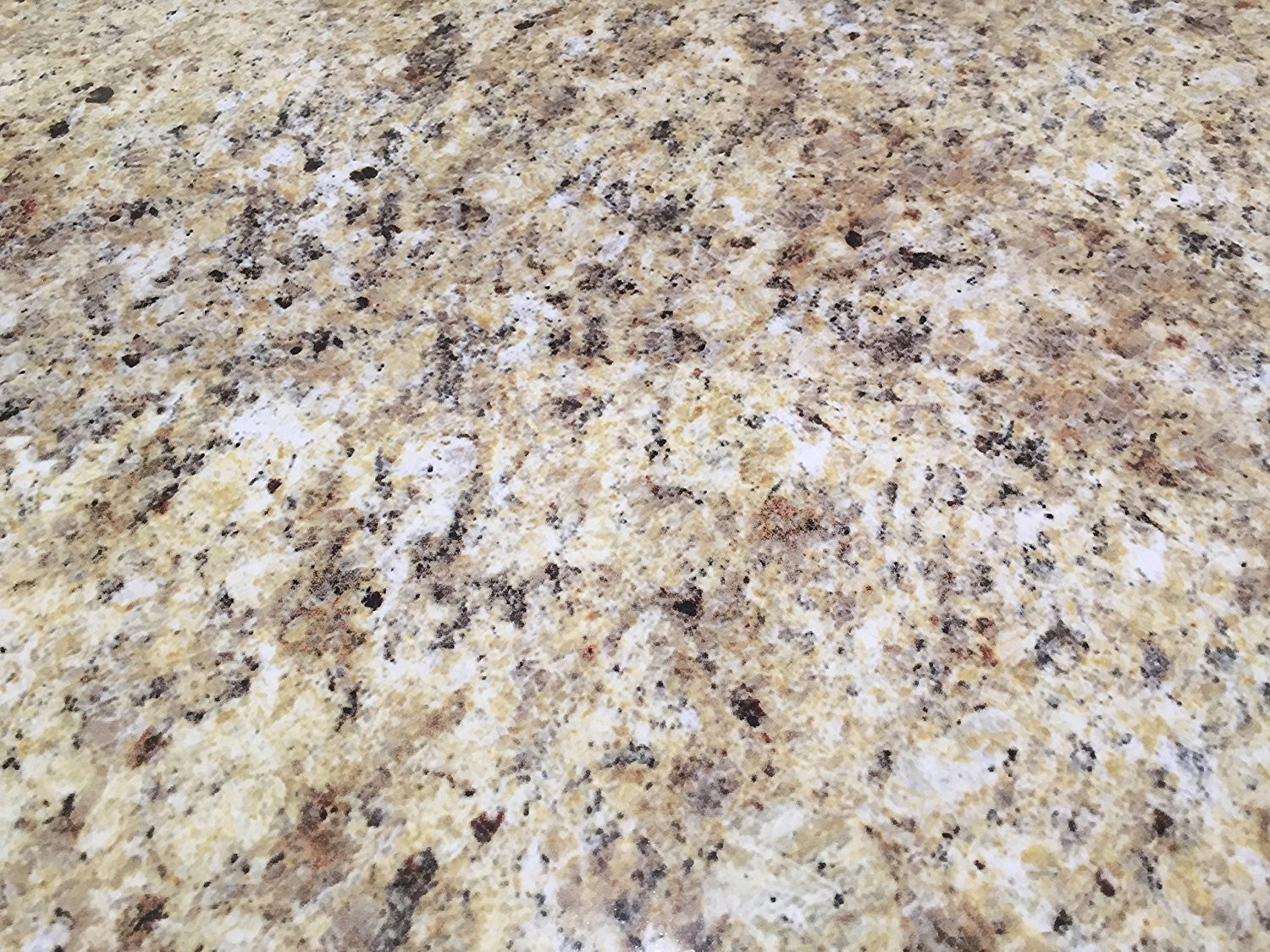 "Instant Granite Venetian Gold/Santa Cecilia Counter Top Film 36'' x 216"" Self Adhesive Vinyl Laminate Counter Top Contact Paper Faux Peel and Stick Self Application"