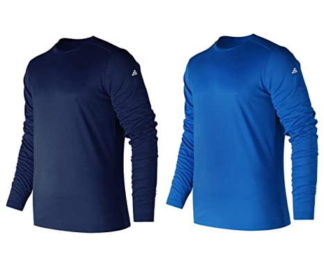 84b72252bc2 TEXFIT Men s 2-Pack Active Sport Long Sleeve Shirts with Quick Dry Fabric (2