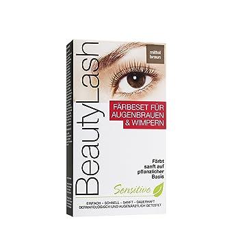Amazoncom Beauty Lash Dye Set Sensitive Medium Brown Beautylash