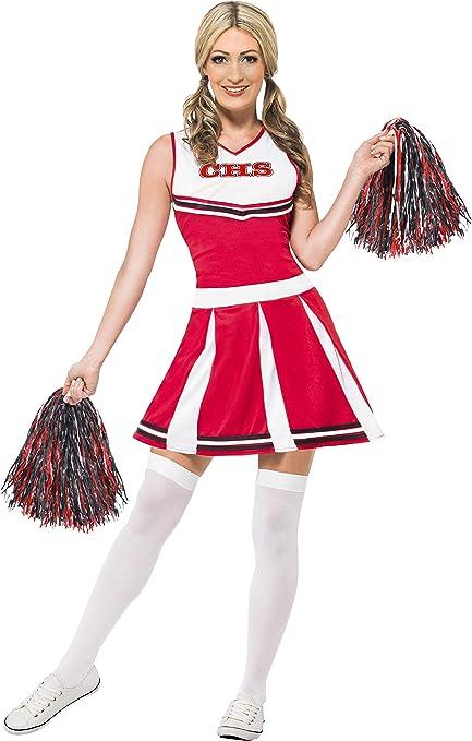 Ladies High School Cheerleader Pom Costume Grande Taglia UK 18-20