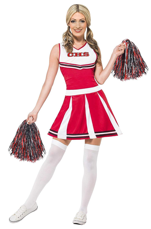 Smiffy's 40065X 1pom-pom girl Costume, pour femme, rouge, XL, UK 20–22 UK 20-22 Smiffys 40065X1