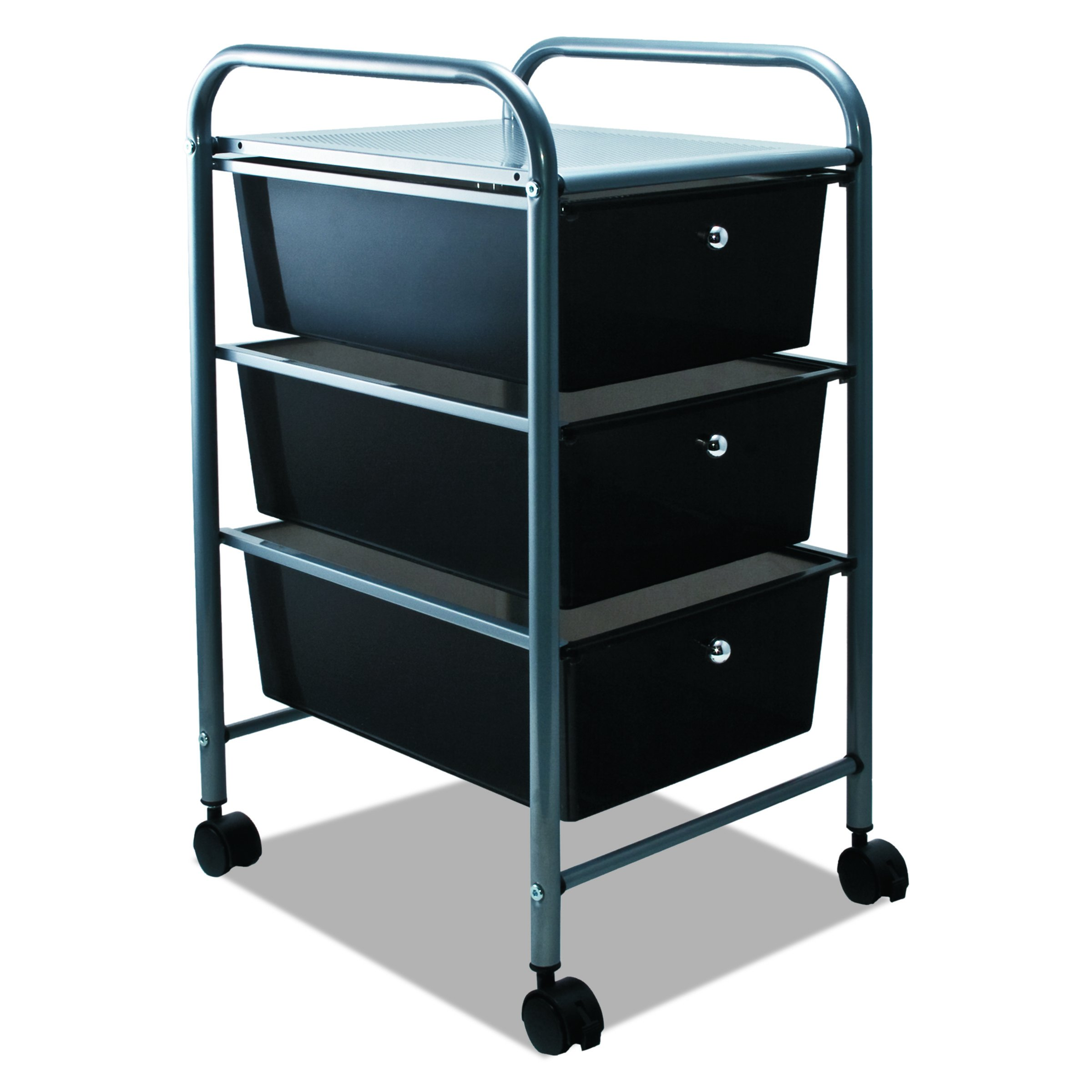 ADVANTUS 3-Drawer Rolling File Organizer Cart, 27 x 15.5 x 13 Inches, Black (34006)