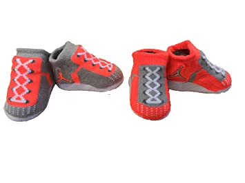 bb96c4a3c Image Unavailable. Image not available for. Color  Nike Air Jordan Infant  Baby Boys Booties Lava Size  0-6 M