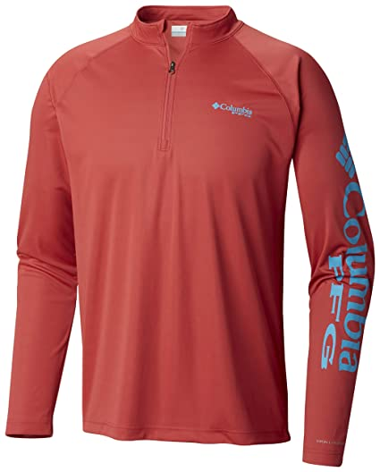 6ec3bc03 Image Unavailable. Image not available for. Color: Columbia Men's PFG Terminal  Tackle 1/4 Sleeve Zip ...