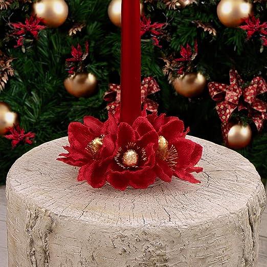 Corona de Navidad para Mesa , Anillo para Vela Cónica con ...