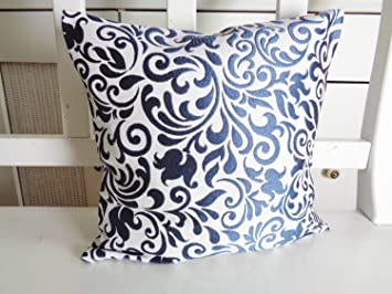 Dekokissen Ornamente Glanz Blau 40x40 oder 50x50