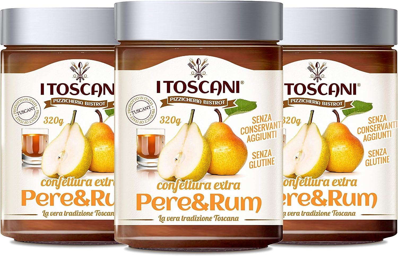 Mermelada extra de peras y ron 3 paquetes de 320 g: i Toscani ...
