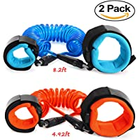 Anti Lost Wrist Link, Dr.Meter Toddler Wrist Leash, Child Safety Wrist Leash, Anti Lost Rope Walking Harness for Kids, 2-Pack[4.92ft &8.2ft]