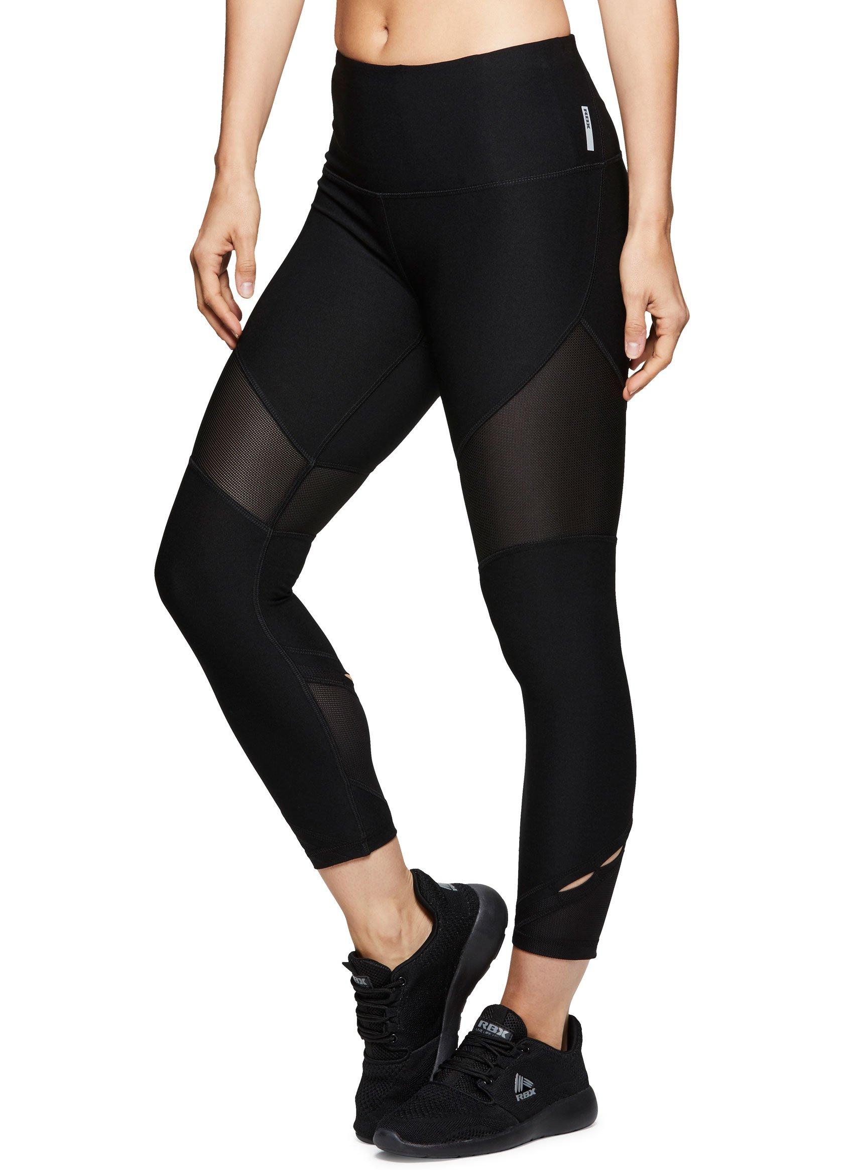 6d673ab6c55d8 Galleon - RBX Active Women's Athletic Workout Yoga Leggings Blackout L