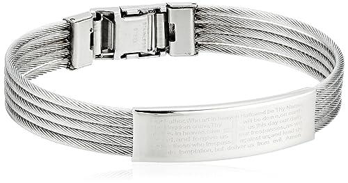 Amazon.com: De los hombres steeltime pulsera de alambre de ...