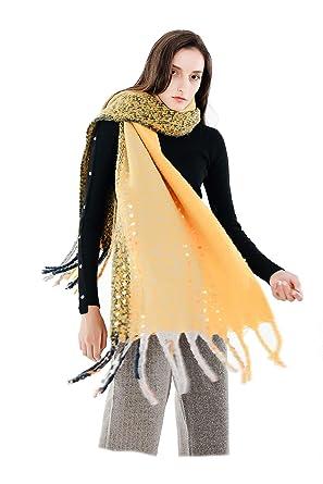 df8aafe2525 Femme Fille Unie Extra Longue Très Épais Écharpe Wrap Châles Etole Glands  Tassel