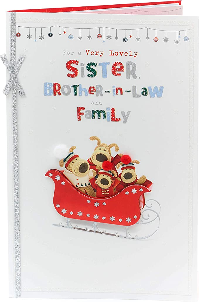 Brother /& His Girlfriend  Boofle Couple Christmas Greeting Card Both of You New