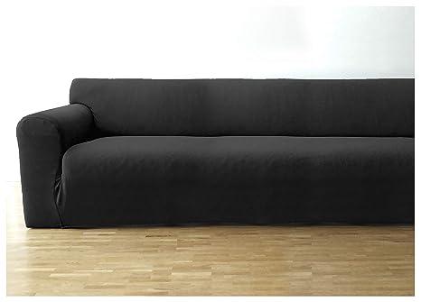 Bellboni Funda de sofá, Forro de sofá, Funda Ajustable bielástica, Apta para Muchos sofás Normales de 3 plazas, Antracita