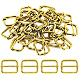 Swpeet 60 Pack of Metal Rings Heavy Duty 1 Inch Rings for Sewing, Keychains Belts and Dog Leash (Metal Roller Pin…