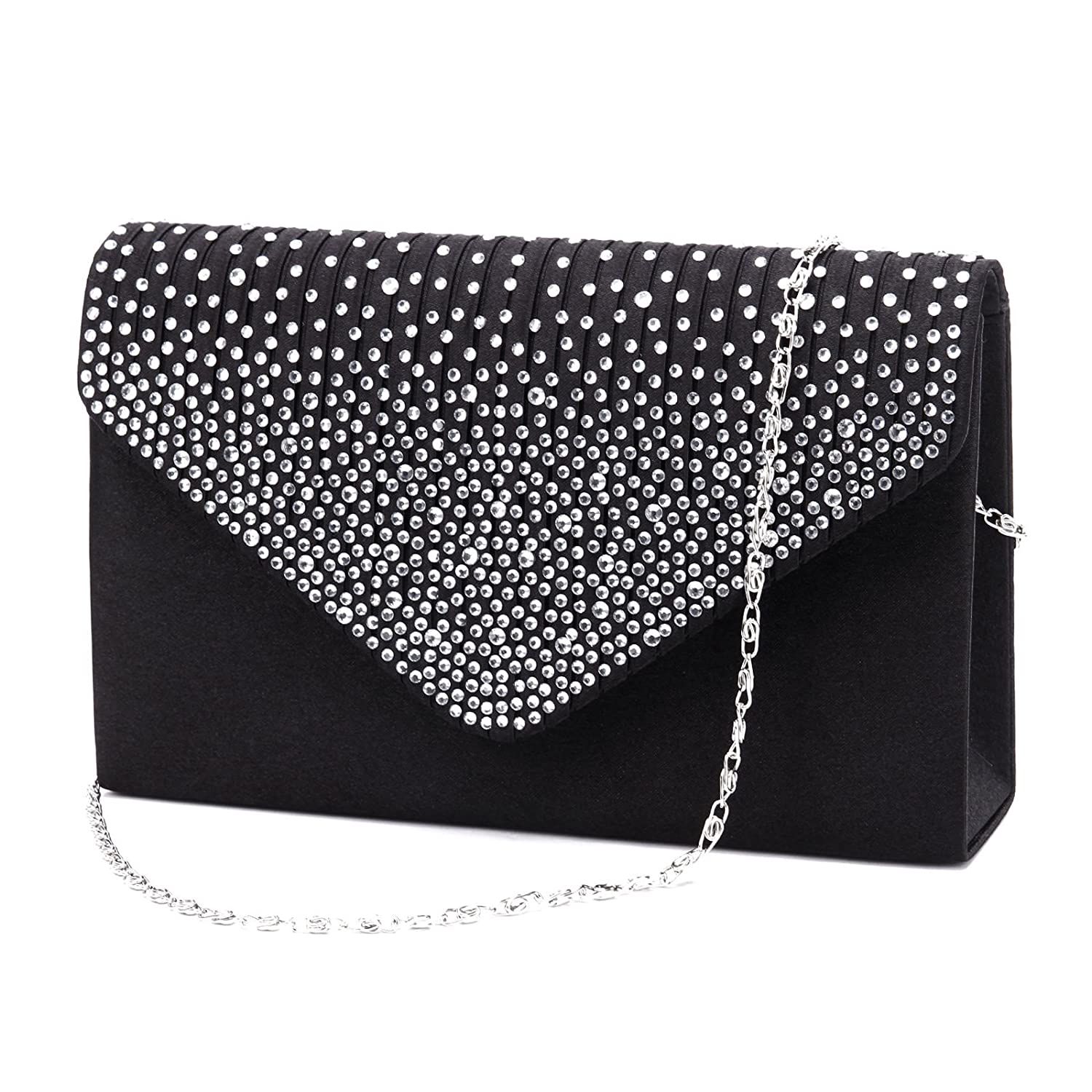 Nodykka Women Evening Envelope Rhinestone Frosted Handbag Party Bridal Clutch Purse by Nodykka