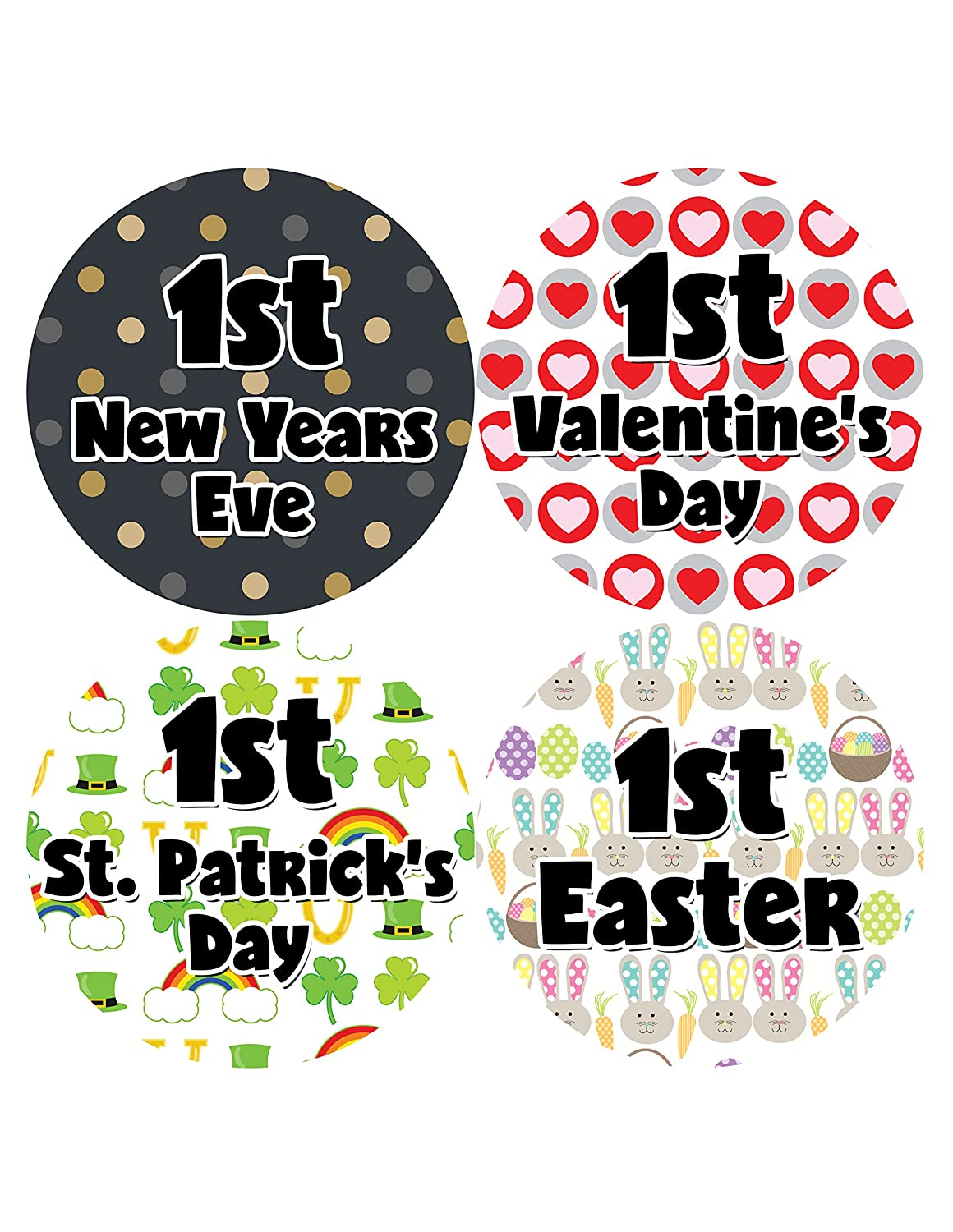 My First Holiday Baby Stickers Milestone Christmas, Birthday, Halloween, Easter, Thanksgiving Baby Sticker Months In Motion Holiday Set 601