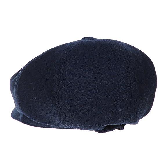 WITHMOONS Sombreros Gorras Boinas Bombines Newsboy Hat Wool Felt Simple Gatsby Ivy Cap SL3458 (Navy): Amazon.es: Ropa y accesorios